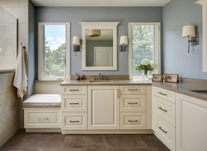 bathroom cabinets and storage
