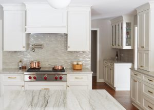 custom kitchen counters and cabinets