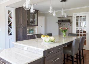 Custom Kitchen Island & wine rack Design