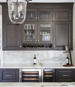 dry bar and cabinet design