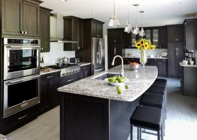 dark kitchen cabinets long grove