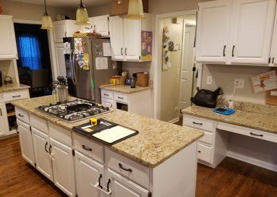 old kitchen island